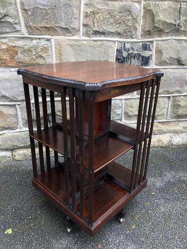 Edwardian Mahogany Revolving Bookcase (1 of 9)