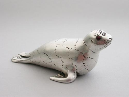 Victorian Novelty Silver Seal Pepperette by Charles & Charles Asprey, London, 1882 (1 of 14)