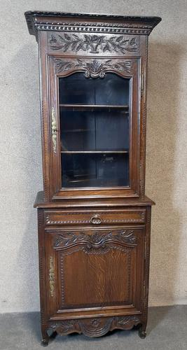 Antique French Carved Oak Bookcase (1 of 16)
