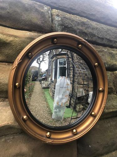 Antique Gilt Framed Convex Mirror (1 of 4)
