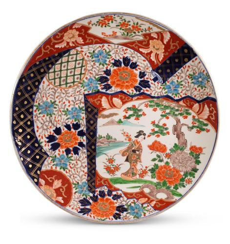 Imari Charger Decorated with a Geisha Lady (1 of 4)