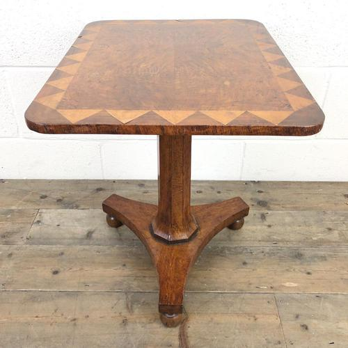 Antique Inlaid Mahogany Side Table (1 of 7)