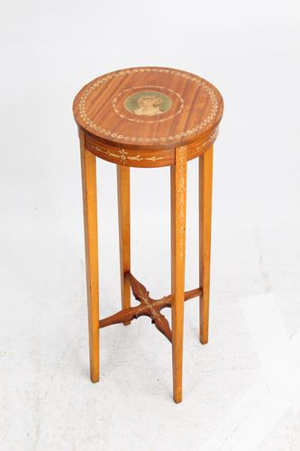 Small Edwardian Painted Satinwood Plant Stand / Jardinière (1 of 13)
