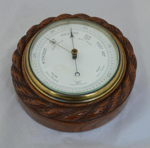 Edwardian Aneroid Barometer Rope Twist (1 of 3)