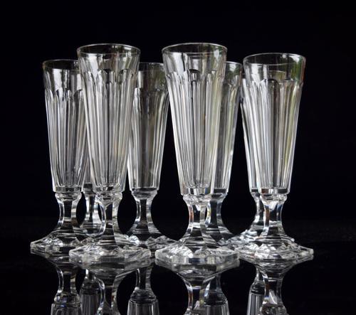 8 Val 8 Saint Lambert Champagne Flutes hexagonal foot (1 of 5)