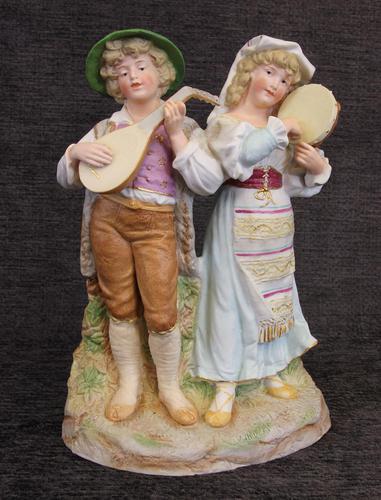 Antique Bisque Porcelain Figure Group (1 of 7)
