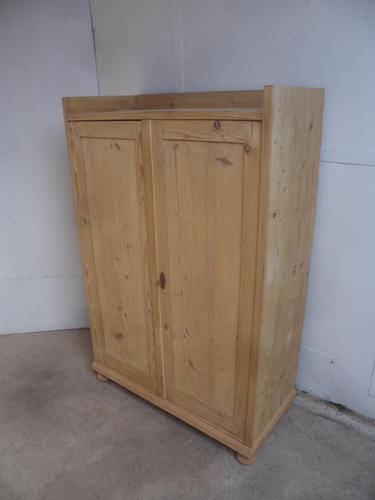 Victorian Antique Pine 2 Door Kitchen Food Storage Cupboard to wax / paint (1 of 9)