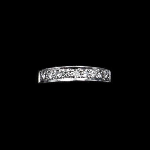 Vintage Diamond 18ct White Gold Half Eternity Band Ring (1 of 10)