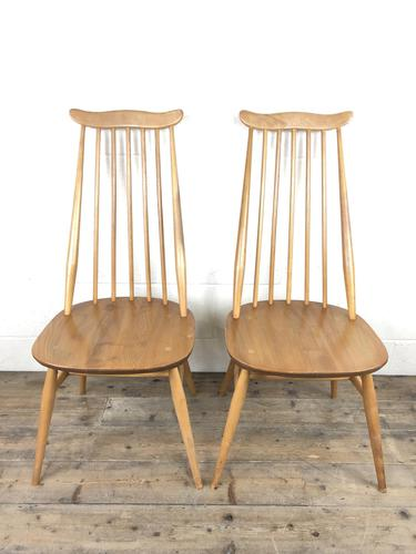 Pair of Ercol Blonde Elm Windsor Chairs (1 of 12)