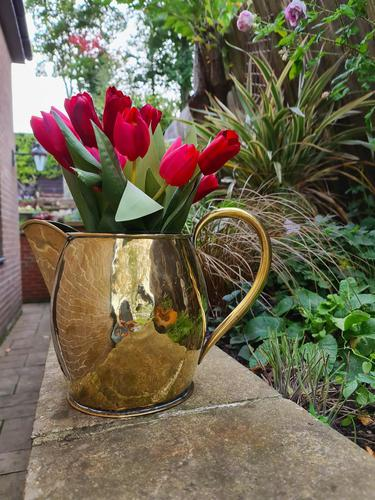 Large 18th Century Brass Pouring Jug (1 of 9)
