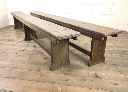 Pair of Antique Oak Refectory Benches (1 of 12)