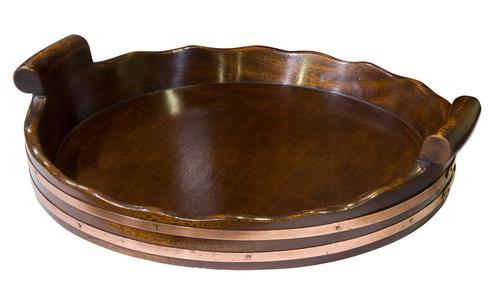 Mahogany Circular Tray (1 of 7)