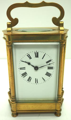 Rare & Unusual Cased Antique French 8-day Timepiece Carriage Clock c.1900 (1 of 10)