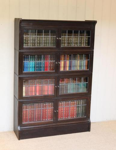 Dark Oak Sectional Stacking Bookcase (1 of 10)