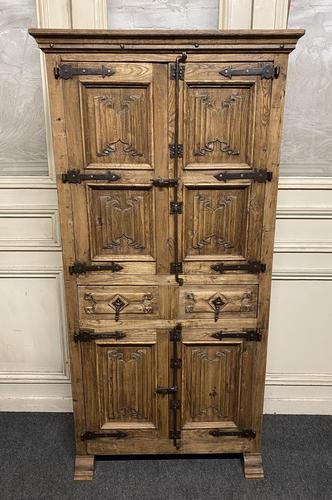 French Gothic Oak Rustic Cupboard or Wardrobe (1 of 22)
