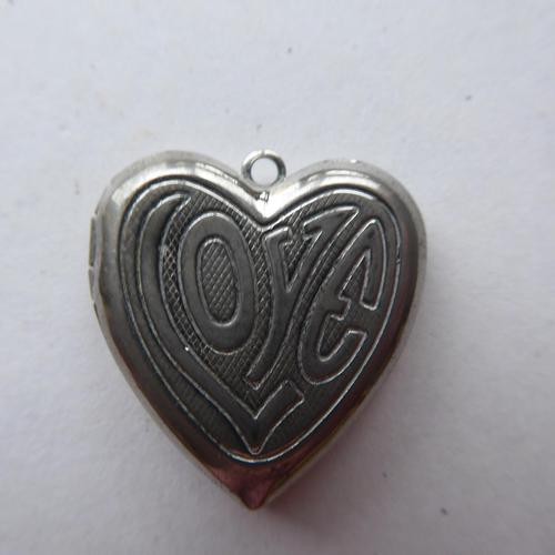 Heart Shaped Silver Locket - No Chain (1 of 8)
