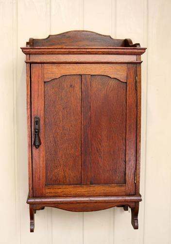 Oak Wall Cabinet (1 of 9)