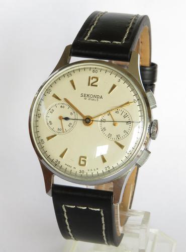 Gents 1960s Sekonda Strela 3017 Cosmonaut Chronograph / Wrist Watch (1 of 5)