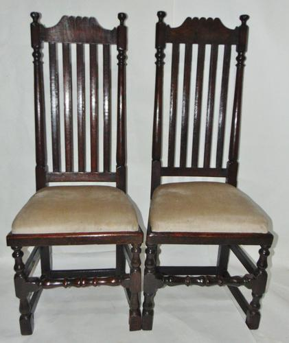 Pair of Jacobean High Back Oak Chairs (1 of 8)