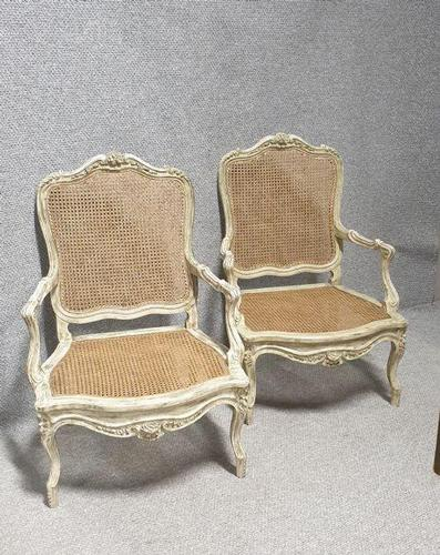 Pair of Painted Bergere Armchairs (1 of 6)