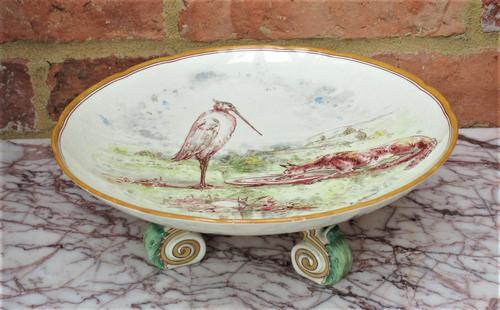 Emile Lessore for Wedgwood, Aesop's Fable Table Compote, 1865 - The Fox & The Stork (1 of 9)