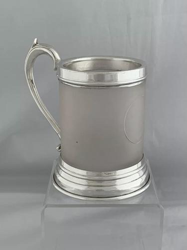 Antique Silver & Glass Tankard 1937 London Goldsmiths & Silversmiths Sterling (1 of 12)