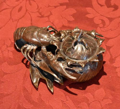 Fine Bronze Lobster Inkwell (1 of 10)