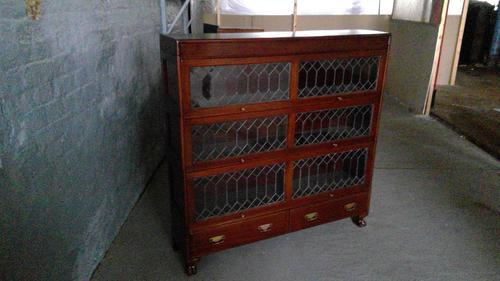 Fine Quality Edwardian Wernicke Type Mahogany Stacking Leaded Bookcase (1 of 4)