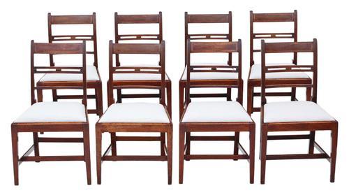 Set of 8 Georgian Mahogany Dining Chairs 19th Century c.1800 (1 of 7)