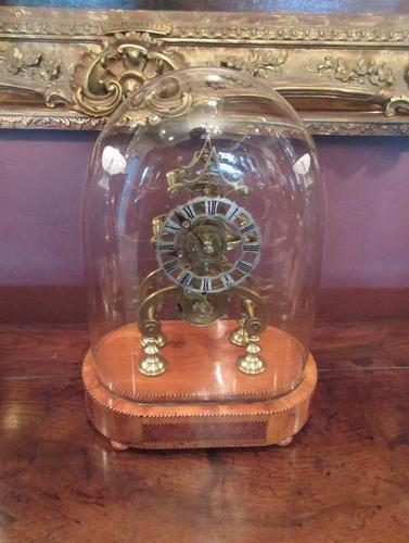 Antique Single Fusee Inlaid Skeleton Clock (1 of 10)
