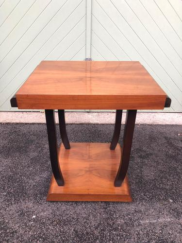 Art Deco Walnut & Ebonised Table (1 of 9)