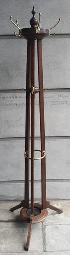 Late 19th Century Oak Hat & Coat Stand (1 of 4)