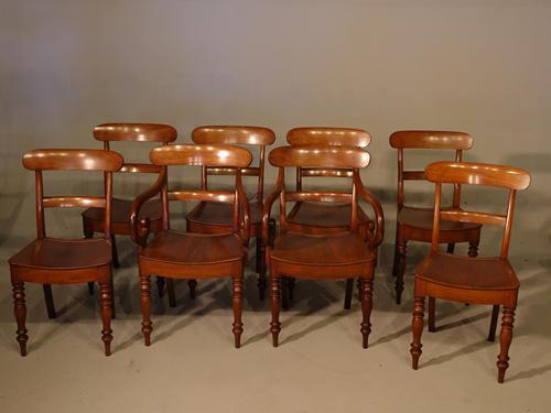 Most Attractive Set of Eight '6+2' Mid 19th Century Mahogany Chairs (1 of 5)