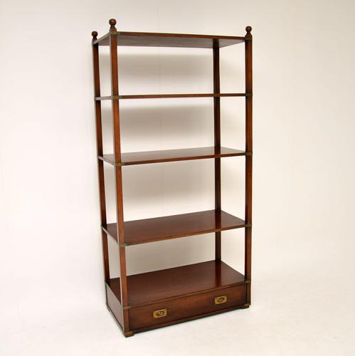 Antique Military Campaign Style Mahogany Bookcase / Cabinet (1 of 6)