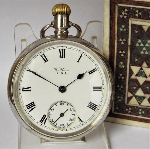 Antique Silver Waltham Bond Street Pocket Watch (1 of 5)