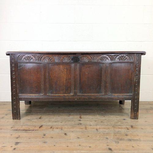 Antique Carved Oak Coffer (1 of 13)
