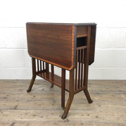 Antique Mahogany Inlaid Sutherland Side Table (1 of 9)