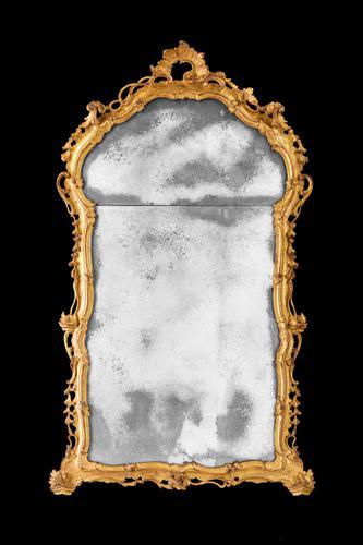 Mid 18th Century Giltwood Mirror (1 of 5)