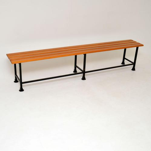 1960's Large Vintage Walnut Bench (1 of 12)