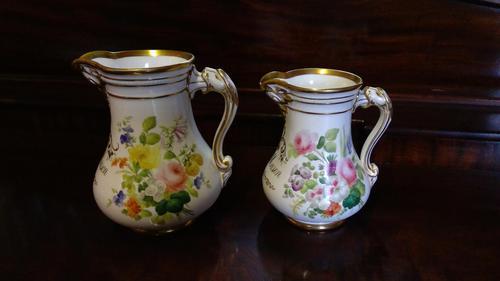 Pair of Coalport Botanical Porcelain Jugs (1 of 4)