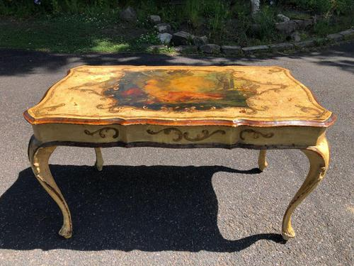 Antique Venetian Polychrome Painted Coffee Table (1 of 9)