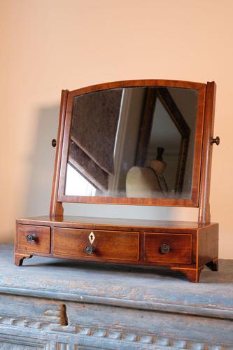 19th Century Inlaid Mahogany Dressing Table Mirror (1 of 23)