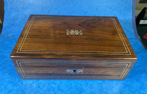 William IV Rosewood & Mother of Pearl Writing Slope (1 of 14)