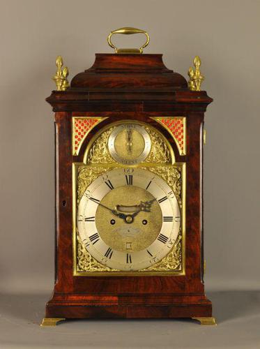 Mahogany Verge Fusee Bracket Clock -  Henry Cooley, London (1 of 9)