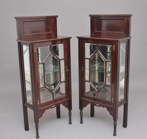 Pair of Early 20th Century Mahogany Display Cabinets (1 of 9)
