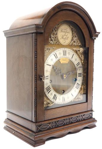 Superb Mahogany Arch Top Mantel Clock Westminster Musical Bracket Clock by Dent London (1 of 10)