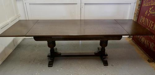 Large Dark Oak Refectory Extending Table (1 of 12)