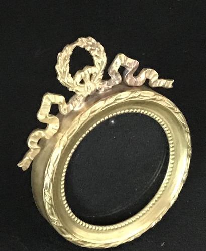Edwardian Brass Easel Photo Frame (1 of 4)