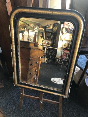 Lovely Antique French 19th Ebonised & Gilt Mirror c.1840 (1 of 5)