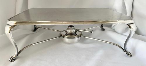 Edwardian Walker & Hall Silver Plated Hot Plate (1 of 10)